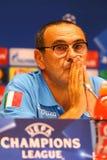Dynamo Kyiv v Napoli de ligue de champions d'UEFA : presse-conférence de Pré-match Image libre de droits