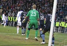 Dynamo Kyiv versus de Stad van Manchester Royalty-vrije Stock Foto
