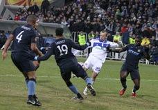 Dynamo Kyiv versus de Stad van Manchester Royalty-vrije Stock Afbeeldingen