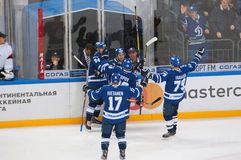 Dynamo Moscow rejoice of score Royalty Free Stock Image
