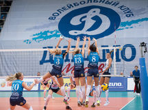 Dynamo Moscow team defend Royalty Free Stock Photography