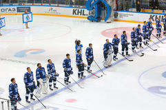 Dynamo Moscow team in row Stock Image