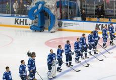 Dynamo Moscow team in row Royalty Free Stock Photos