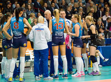 Dynamo Moscow team on timeout Stock Image