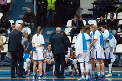 Dynamo Moscow team on timeout Stock Images