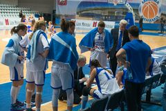 Dynamo Moscow team on timeout Stock Photography