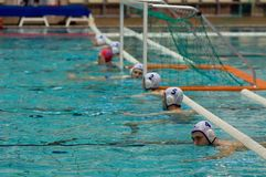 Dynamo(Moscow) team of waterpolo royalty free stock images