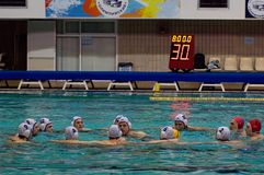 Dynamo(Moscow) team of waterpolo Stock Photography