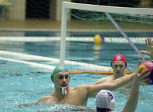Dynamo(Moscow) vs Sintez (Kazan) of waterpolo royalty free stock photos
