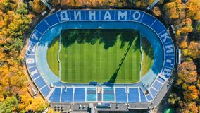 Dynamo stadium, top view. Shooting from a copter stock images