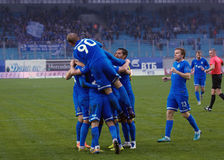 Dynamo team rejoice of score Royalty Free Stock Image