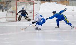 Dynamo(white) vs Zorkij(blue) Stock Image