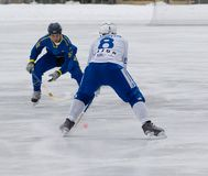 Dynamo(white) vs Zorkij(blue) Stock Photos