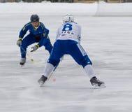 Dynamo(white) vs Zorkij(blue) Stock Photos