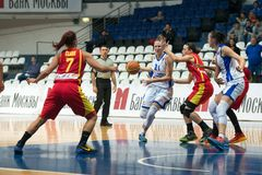 DynamoMoskva vs Maccabi Ashdod Israel Royaltyfri Foto