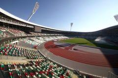 Dynamostadion efter rekonstruktion f?r de europeiska lekarna I I i 2019 arkivfoton