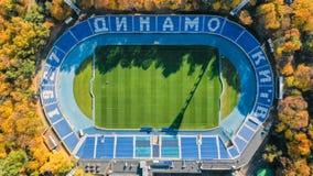 Dynamostadion, hoogste mening Het schieten van een helikopter stock afbeeldingen