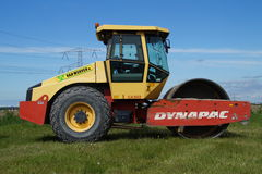 Dynapac Steel Wheel Roller - Pavement Compaction Equipment Stock Image