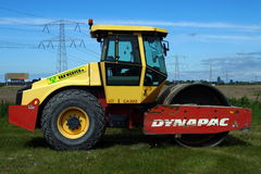 Dynapac Steel Wheel Roller - Pavement Compaction Equipment Royalty Free Stock Image