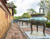 Dynasty Urns in Imperial City of Hue Royalty Free Stock Image