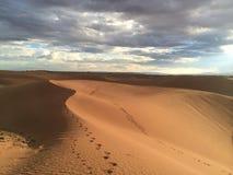 dynfoten skrivar ut sanden arkivbild