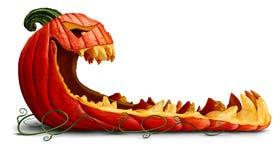 Dyniowa Halloweenowa promocja royalty ilustracja