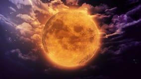 Dyniowa księżyc Halloween ilustracji