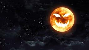 Dyniowa twarzy księżyc ilustracji