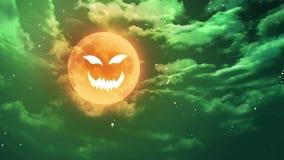 Dyniowa twarzy księżyc ilustracja wektor