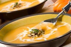 dyniowa zupę. zdjęcia stock