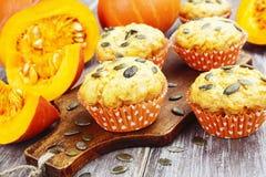 dyniowi domowej roboty muffins Fotografia Stock