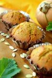 Dyniowi muffins Fotografia Stock