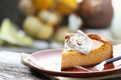 Dyniowy Cheesecake kulebiak Obrazy Royalty Free
