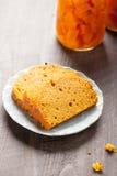 Dyniowy chleb z słojami bania Zdjęcia Stock