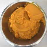 Dyniowy purée w miesza pucharze zdjęcie stock