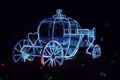 Dyniowy samochód przy nocą Zdjęcia Stock