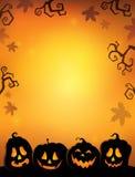 Dyniowy sylwetki thematics wizerunek 2 Obrazy Stock