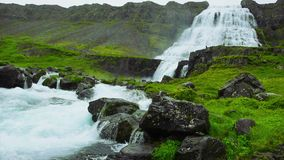 dynjandi冰岛瀑布 股票视频