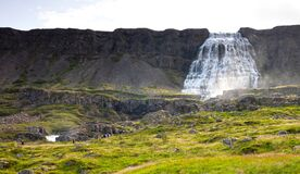 Dynjandi is the most famous waterfall of the West Fjords, Iceland