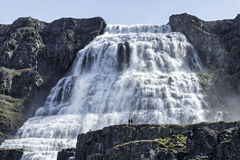 Dynjandi Wasserfall Stockfotos