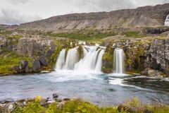 Dynjandi waterfall - Iceland. Stock Photo