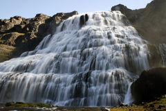 Dynjandi waterfall in Iceland royalty free stock photo