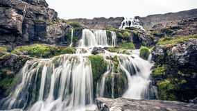 Dynjandi waterfall. The waterfall, Dynjandi, in Iceland stock images