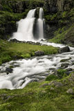 Dynjandi, a Waterfall in Iceland Stock Images