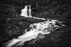 Dynjandi, a Waterfall in Iceland Stock Image