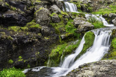 Dynjandi, a Waterfall in Iceland Royalty Free Stock Photography