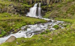 Dynjandi, a Waterfall in Iceland Stock Photos