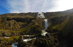 Dynjandi waterfall in Iceland Royalty Free Stock Images