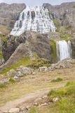 Dynjandi waterfall - Iceland, Westfjords. Royalty Free Stock Image