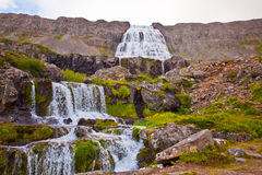 Dynjandi waterfall in the northern Iceland Royalty Free Stock Photography